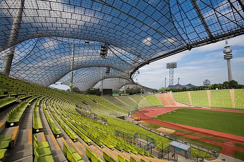 Munich Olympic Stadium by Frei Otto, Munich