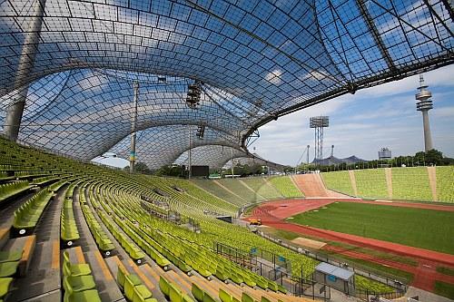 Munich Olympic Stadium by Frei Otto, Munich