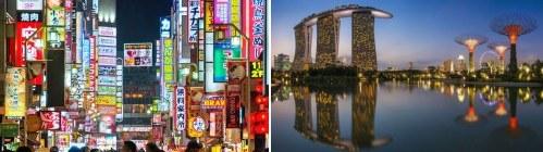 Tokyo, Japan and Singapore