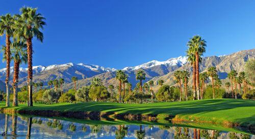 Golfing in Palm Springs, California