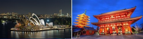 Sydney, Australia and Tokyo, Japan