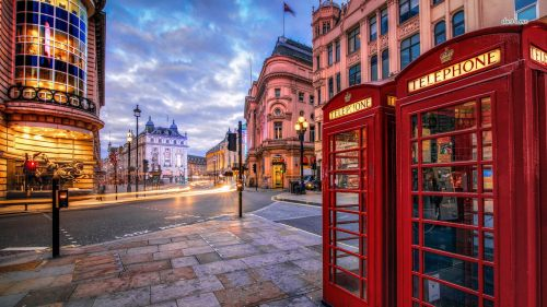 A phone booth in London, England
