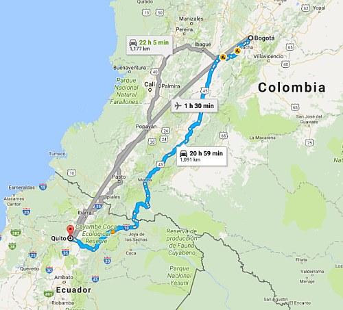 Calgary To Bogota Colombia 444 Cad