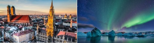 Munich, Germany and Iceland