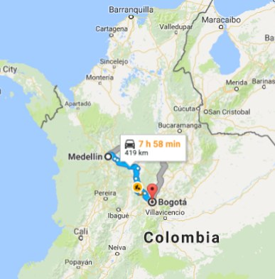 From Bogota Colombia 468 Cad Roundtrip